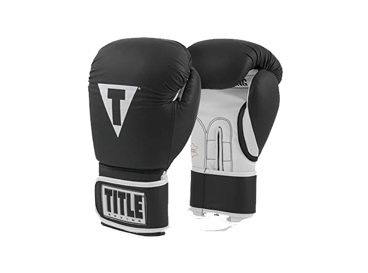 pro leather title boxing gloves